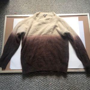 Fur-like ombre sweater